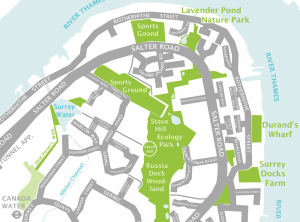 Stave Hill Eco Park map