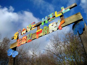 Entrance sign for Stave Hill Eco Park